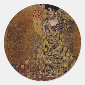 Portrait of Adele Bloch-Bauer I Classic Round Sticker