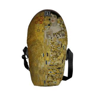 Portrait of Adele Bloch-Bauer I - Gustav Klimt Messenger Bag