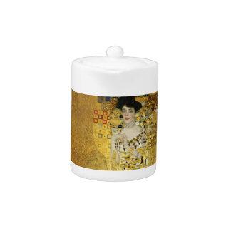 Portrait Of Adele Bloch-bauer I - Gustav Klimt Teapot at Zazzle