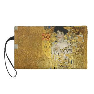 Portrait of Adele Bloch-Bauer I - Gustav Klimt Wristlet Purse