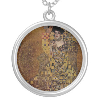 Portrait of Adele Bloch-Bauer Silver Plated Necklace
