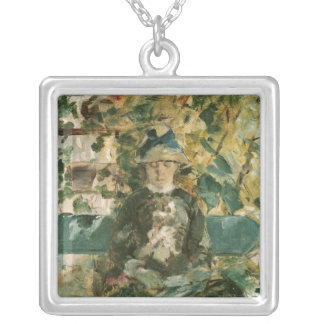 Portrait of Adele Tapie de Celeyran  1882 Square Pendant Necklace