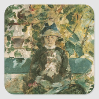 Portrait of Adele Tapie de Celeyran  1882 Square Sticker