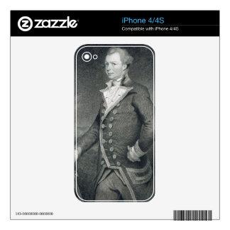 Portrait of Admiral John Macbride (d.1800) engrave Skins For iPhone 4S