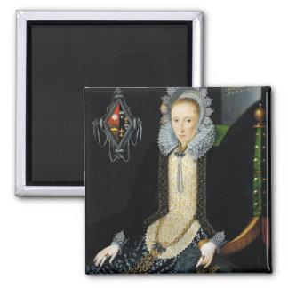Portrait of Adriana van Nesse, 1611 2 Inch Square Magnet