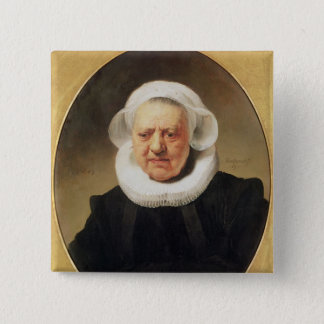 Portrait of Aechje Claesdar, 1634 Pinback Button