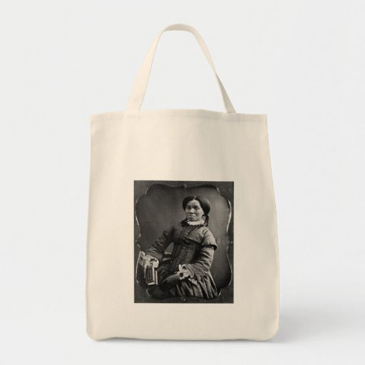 Portrait of African American Woman ~ 1850 Canvas Bags