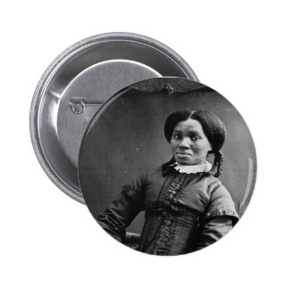 Portrait of African American Woman ~ 1850 Pinback Button