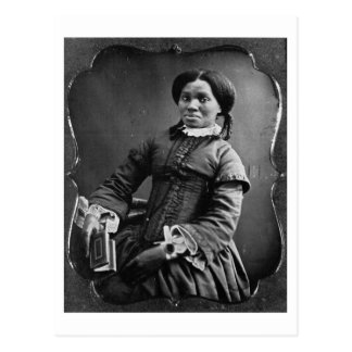 Portrait of African American Woman ~ 1850 Postcard