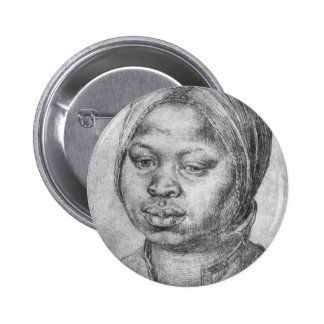 Portrait of African woman Catherine 2 Inch Round Button