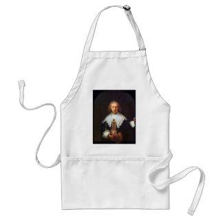 Portrait of Agatha Bas by Rembrandt Adult Apron