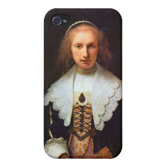 Portrait of Agatha Bas by Rembrandt Cover For iPhone 4