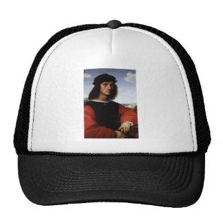 Portrait of Agnolo Doni by Raphael or Raffaello Mesh Hat