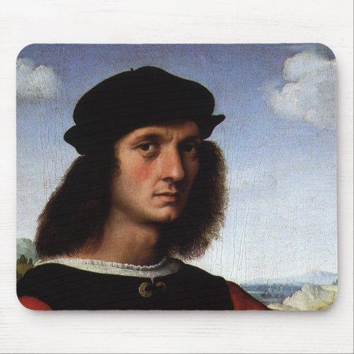 Portrait of Agnolo Doni by Raphael or Raffaello Mousepads
