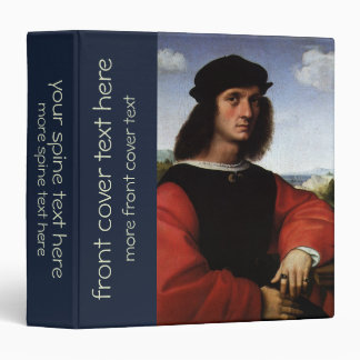 Portrait of Agnolo Doni by Raphael Sanzio 3 Ring Binder