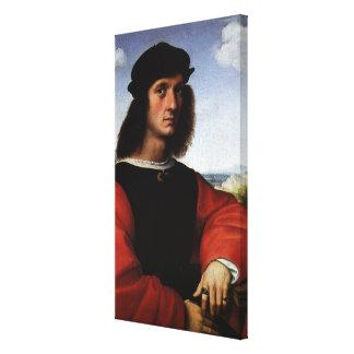 Portrait of Agnolo Doni by Raphael Sanzio Canvas Print