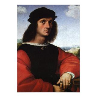 Portrait of Agnolo Doni by Raphael Sanzio Card