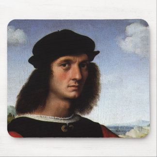 Portrait of Agnolo Doni by Raphael Sanzio Mouse Pad