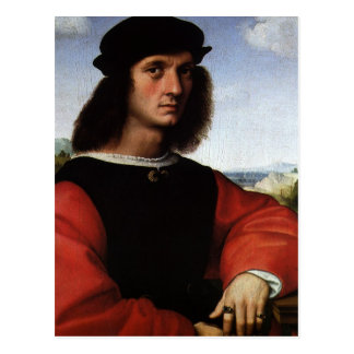 Portrait of Agnolo Doni by Raphael Sanzio Postcard