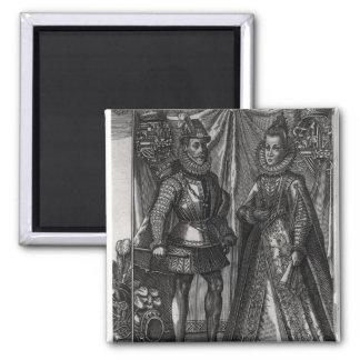 Portrait of Albert, Archduke of Austria 2 Inch Square Magnet