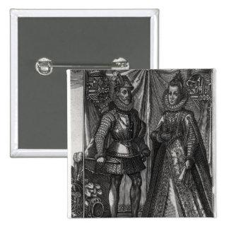Portrait of Albert, Archduke of Austria 2 Inch Square Button