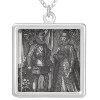 Portrait of Albert, Archduke of Austria Silver Plated Necklace