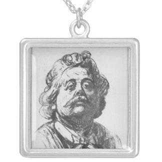 Portrait of Albert Ernest Carrier-Belleuse Square Pendant Necklace
