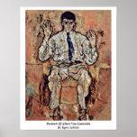 Portrait Of Albert Von Gutersloh By Egon Schiele Print