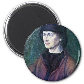 Portrait of Albrecht Dürer the Elder 2 Inch Round Magnet