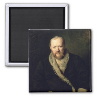 Portrait of Aleksandr Ostrovsky  1871 2 Inch Square Magnet