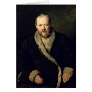 Portrait of Aleksandr Ostrovsky  1871 Card