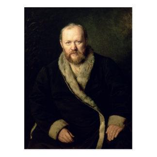 Portrait of Aleksandr Ostrovsky  1871 Postcard