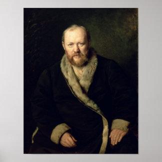 Portrait of Aleksandr Ostrovsky  1871 Poster