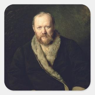 Portrait of Aleksandr Ostrovsky  1871 Square Sticker