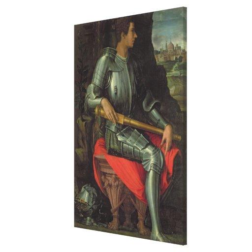 Portrait of Alessandro de' Medici, 1534 (oil on pa Canvas Prints