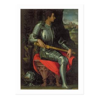 Portrait of Alessandro de' Medici, 1534 (oil on pa Postcard