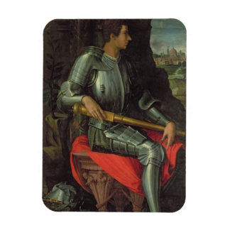 Portrait of Alessandro de' Medici, 1534 (oil on pa Rectangular Photo Magnet