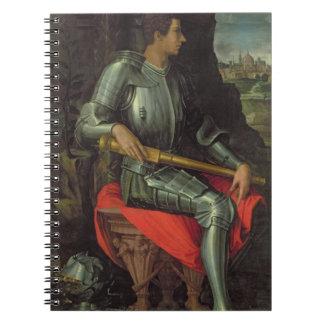 Portrait of Alessandro de' Medici, 1534 (oil on pa Spiral Notebook