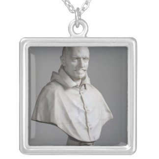 Portrait of Alessandro Silver Plated Necklace
