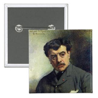 Portrait of Alexander Falguiere  1887 Pinback Button
