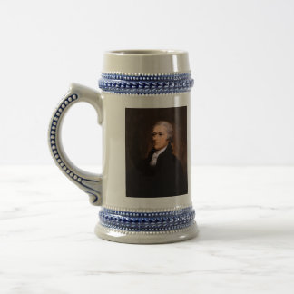 Portrait of Alexander Hamilton by John Trumbull Beer Stein