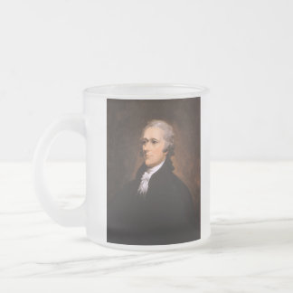 Portrait of Alexander Hamilton by John Trumbull Frosted Glass Coffee Mug