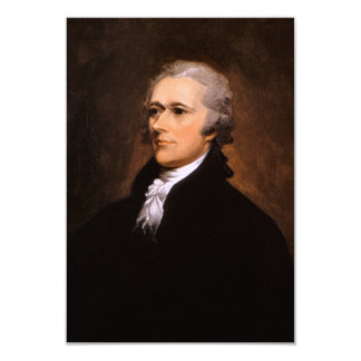 Portrait of Alexander Hamilton by John Trumbull Personalized Invitations