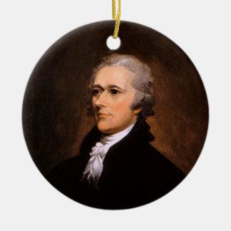Portrait of Alexander Hamilton by John Trumbull Double-Sided Ceramic Round Christmas Ornament