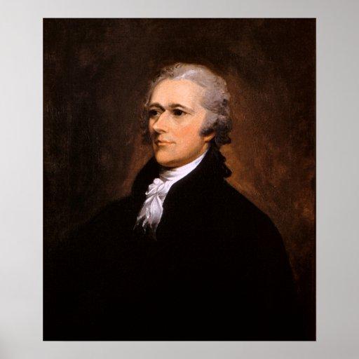 Portrait of Alexander Hamilton by John Trumbull Poster