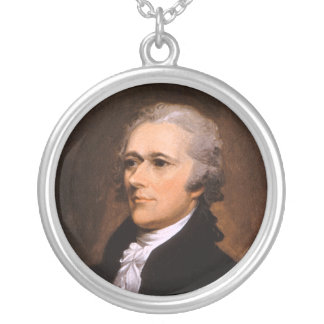 Portrait of Alexander Hamilton by John Trumbull Silver Plated Necklace