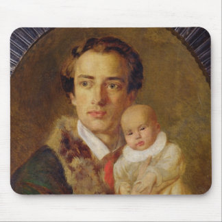 Portrait of Alexander Herzen with his son, 1840 Mouse Pad