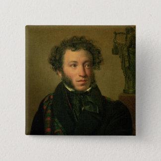 Portrait of Alexander Pushkin, 1827 Button