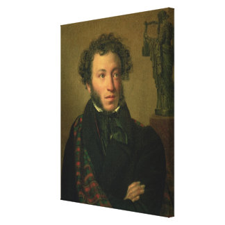 Portrait of Alexander Pushkin, 1827 Stretched Canvas Print