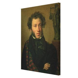 Portrait of Alexander Pushkin, 1827 Canvas Print